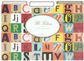 Vintage Alphabet File Folders (Set of 12)